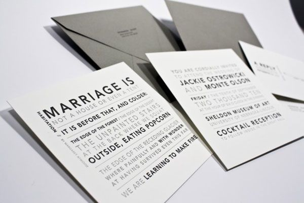 Modern And Simple My Wedding Invites All Things Paper Pinterest Theme Letterpress Invitations