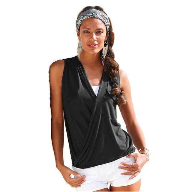 3d8b33279b1 Large Size 3XL Summer Women 2016 Tank Tops V neck Sleeveless Front Short  Back Long Sexy Casual Beach Tanks Vest Female Top Blusa