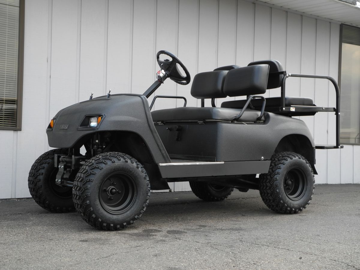 This Blacked Out Tough Little 2001 Yamaha G16 Topless