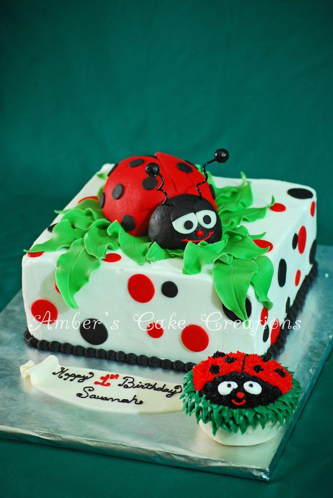 Ladybug 1st Birthday Cake Cakepins Food Glorious Food