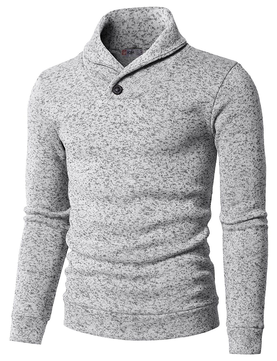 470f7f99a Men's Clothing, Sweaters, Pullovers, Mens Knitted Slim Fit Pullover Sweater  Shawl Collar With One Button Point - Kmoswl036-white - C911IQT6477 #men  #fashion ...