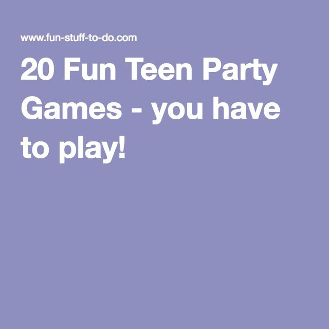 party Young teen games birthday girls