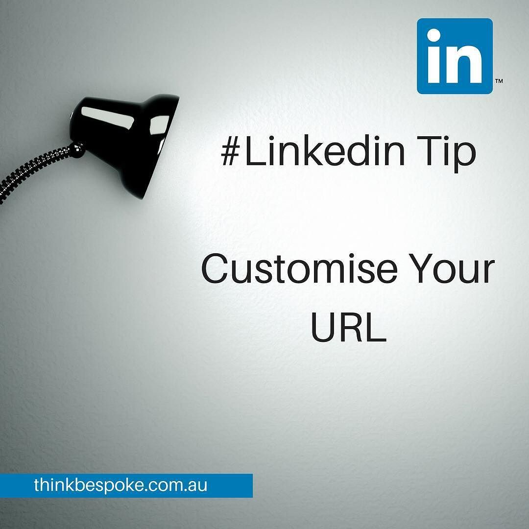 Did you know you can customise your LinkedIn Profile URL