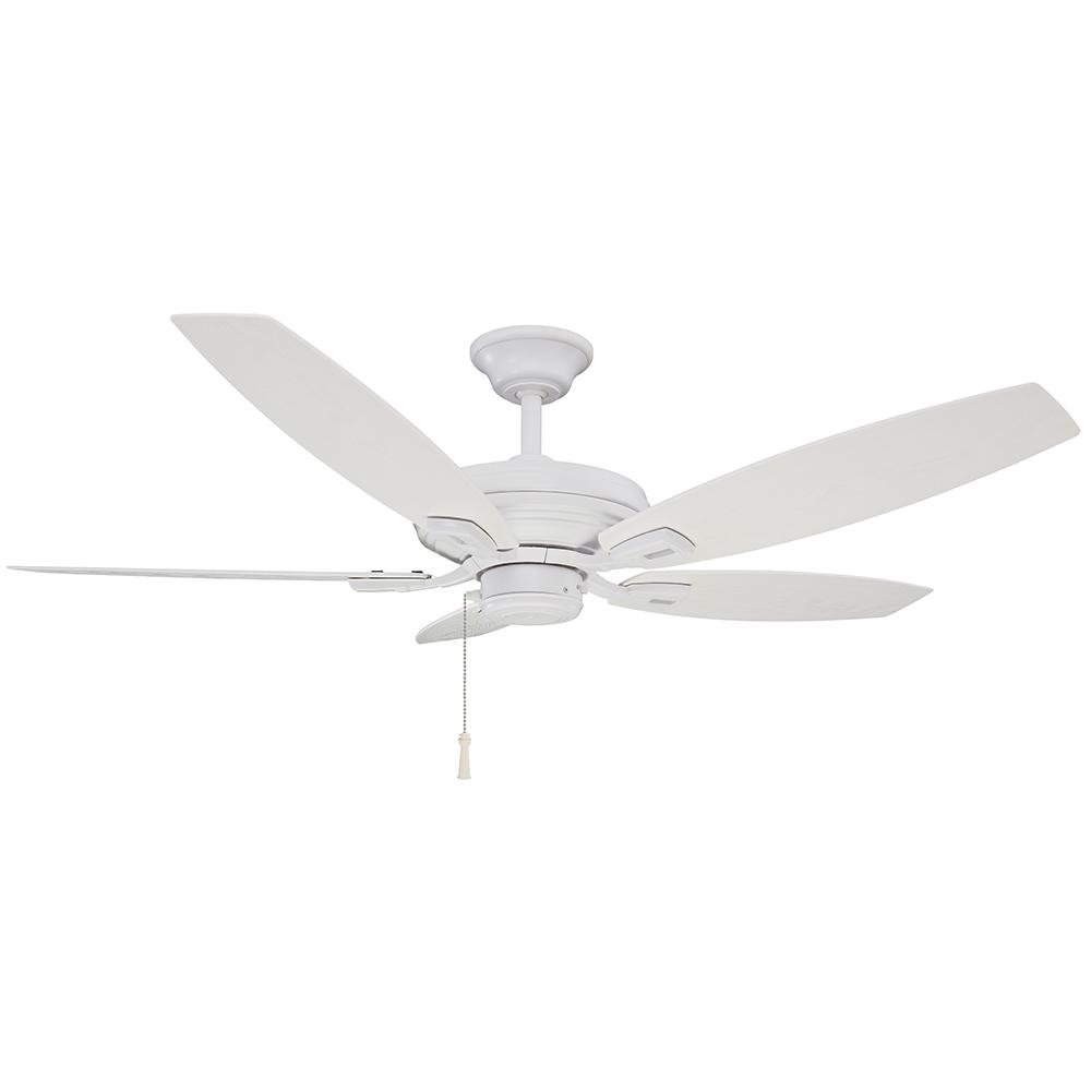 Hampton Bay North Pond 52 In Indoor Outdoor Matte White Ceiling Fan 51716 The Home Depot White Ceiling Fan Ceiling Fan Hampton Bay
