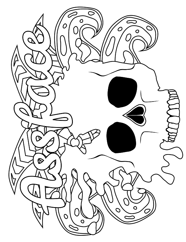 Skull Adult Coloring Page Swear 14 Free Printable Coloring Pages Visit Swears Coloring Pages Free Adult Coloring Printables Free Printable Coloring Pages