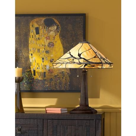 Budding Branch Robert Louis Tiffany Table Lamp Stained Glass