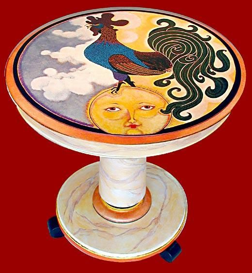 Rooster Table ©Mary E. Carter   Hands Of An Artist Productions