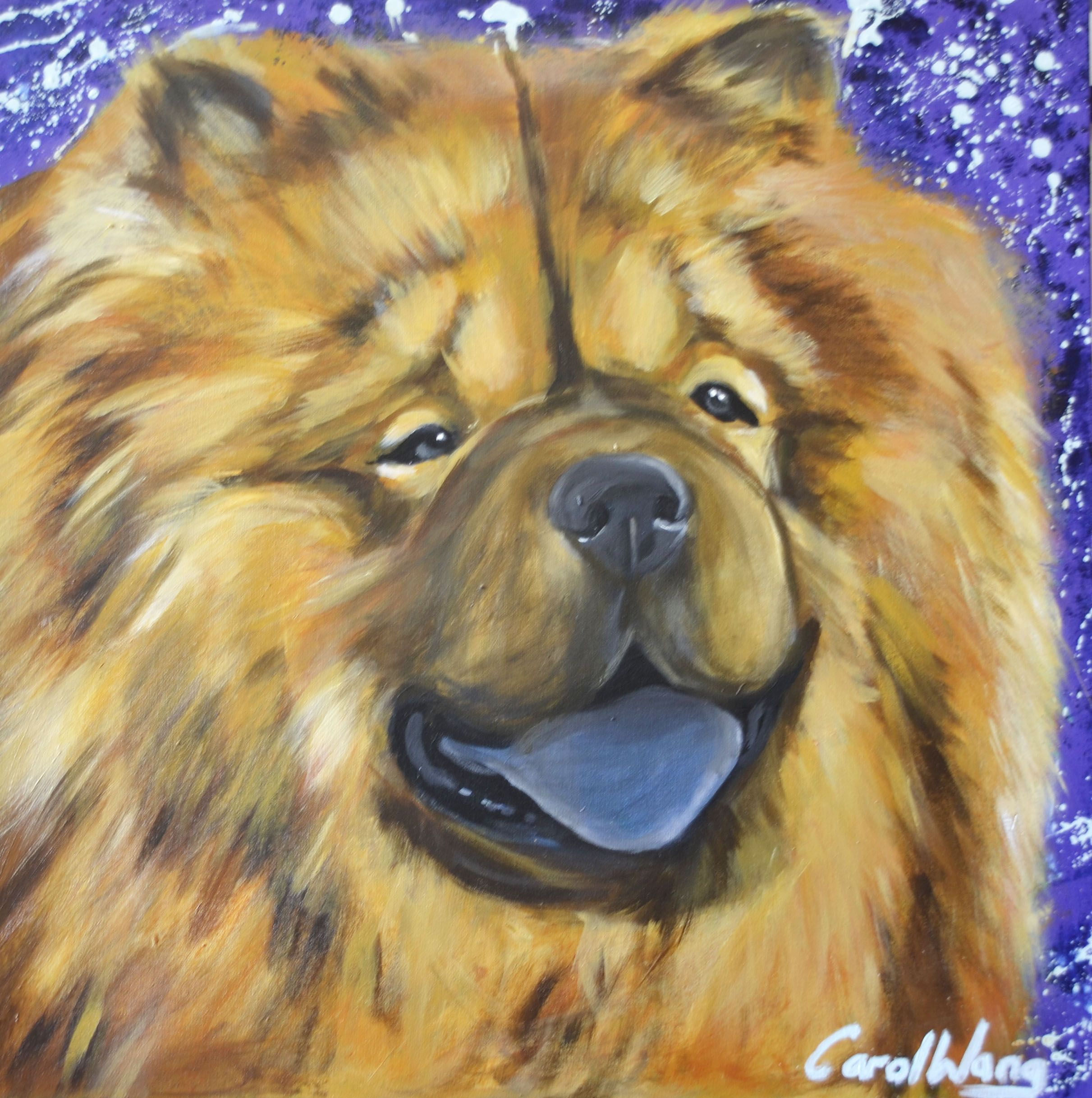 Chow Chow Dog Painting Dog Paintings Chow Chow Dogs Dog Portraits