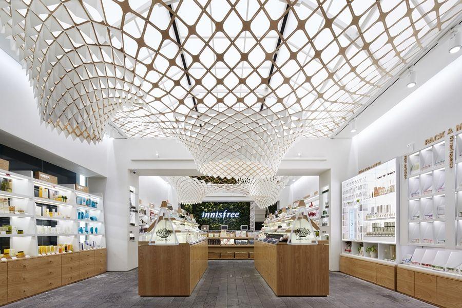 SOFTlab's au naturale installation shines sunlight onto eco-friendly products #shop #design #interiordesign