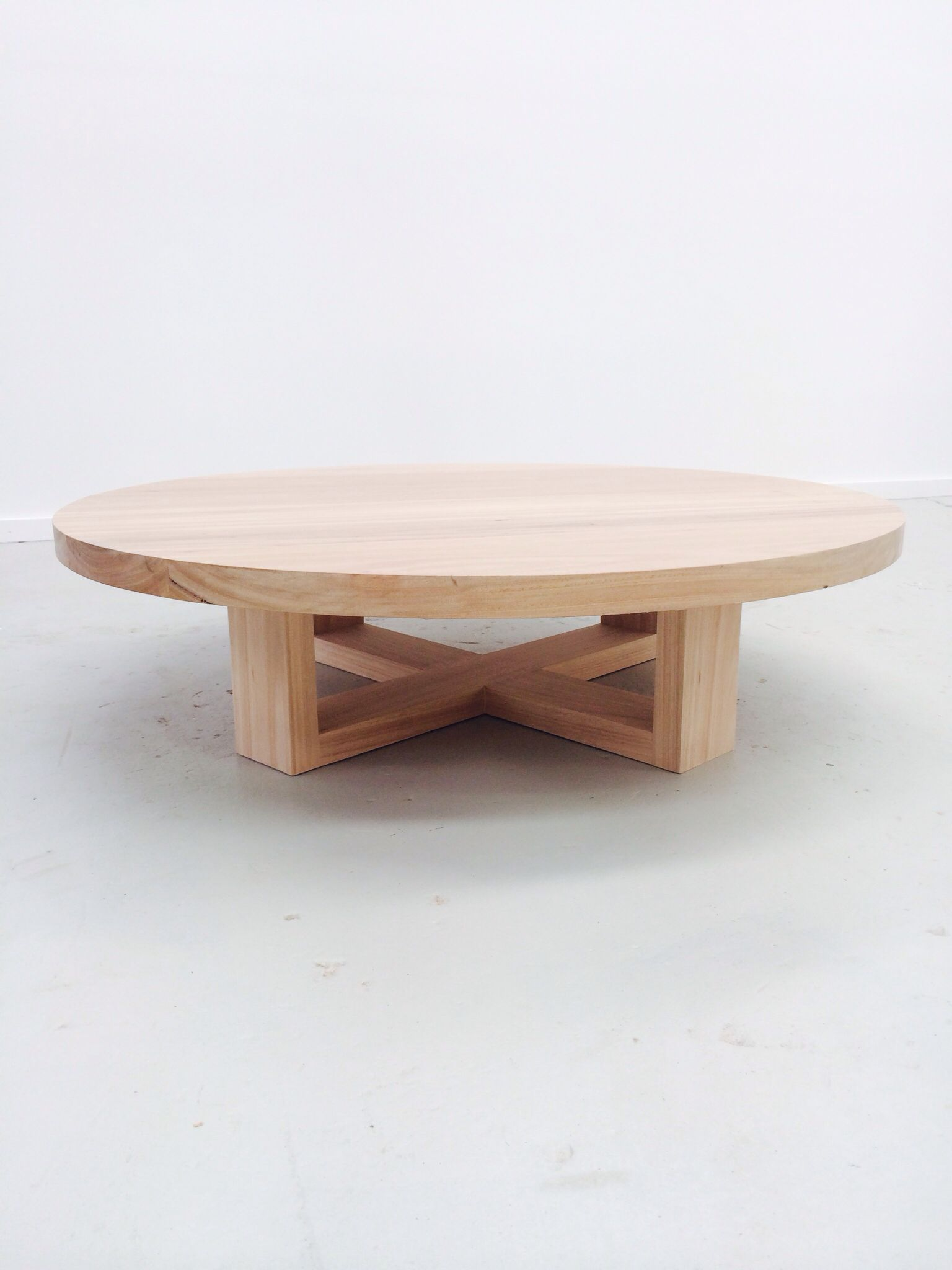 The Orbit Round Timber Coffee Table Coffee Table Round Wood