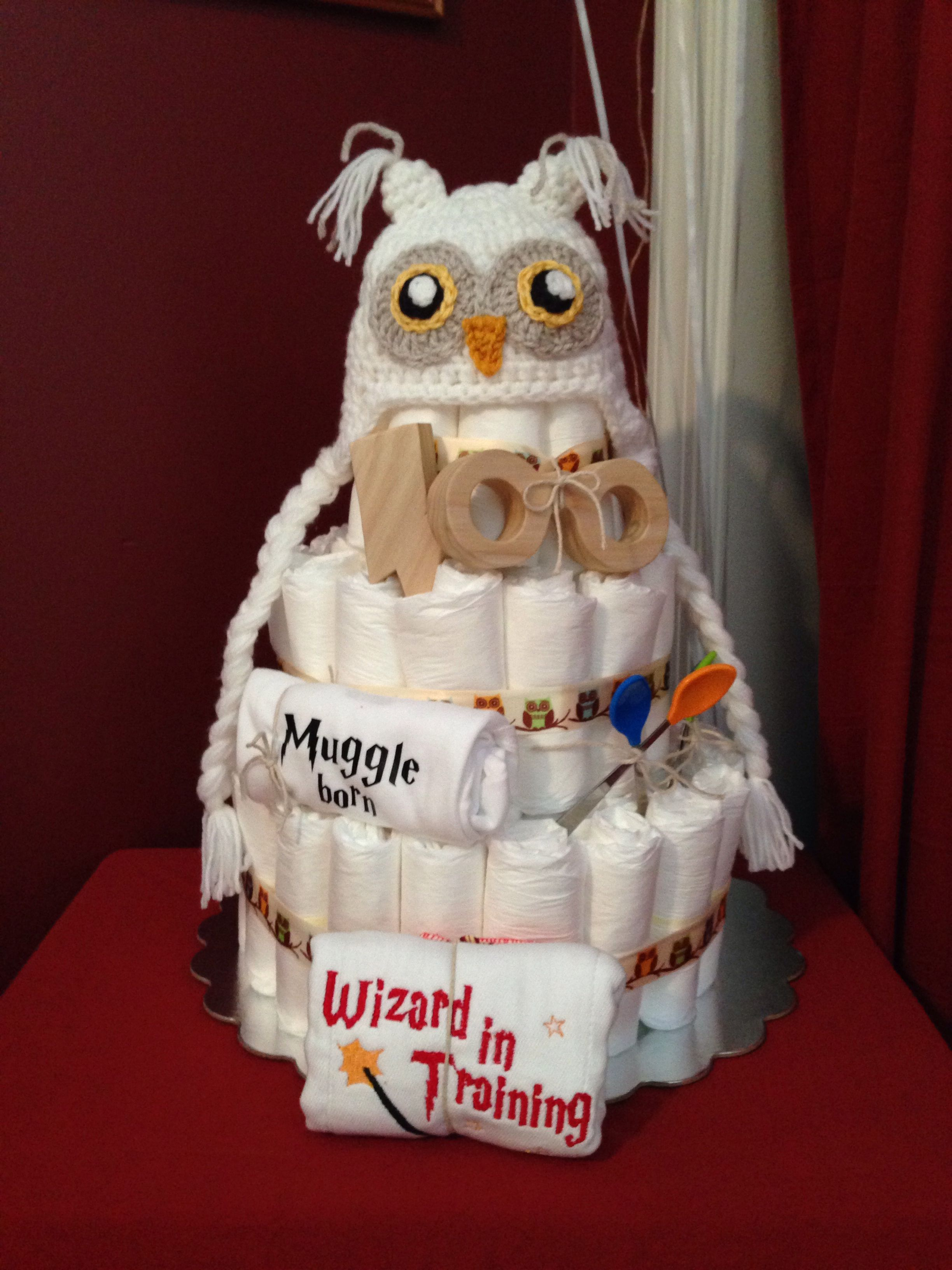 harry potter diaper cake baby shower geschenk sideen pinterest geschenk. Black Bedroom Furniture Sets. Home Design Ideas
