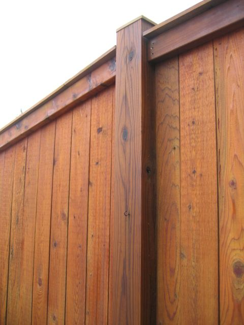 Paragon Painting Llc Sikkens Srd Natural Fence Backyard Fences Rustic Fence Brick Fence