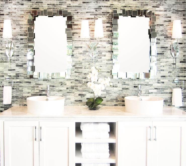 bathrooms - tile from the tile shop mirrors from Ren-wil, double ...