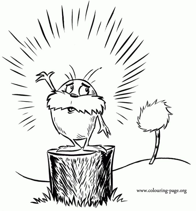 The Lorax With Images Dr Seuss Coloring Pages Dr Seuss