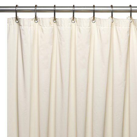 Extra Long 72 X 78 Mildew Resistant 10 Gauge Vinyl Shower Curtain Liner W Metal Grommets And Reinforced Mesh Header In Bone Size 72 Inch X 78 Inch Beige Vinyl Shower Curtains