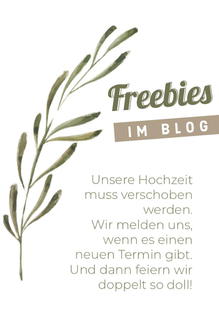 Freebies Fur Alle Die Die Feier Verschieben Mussen In 2020 Feier Hochzeit Zur Taufe