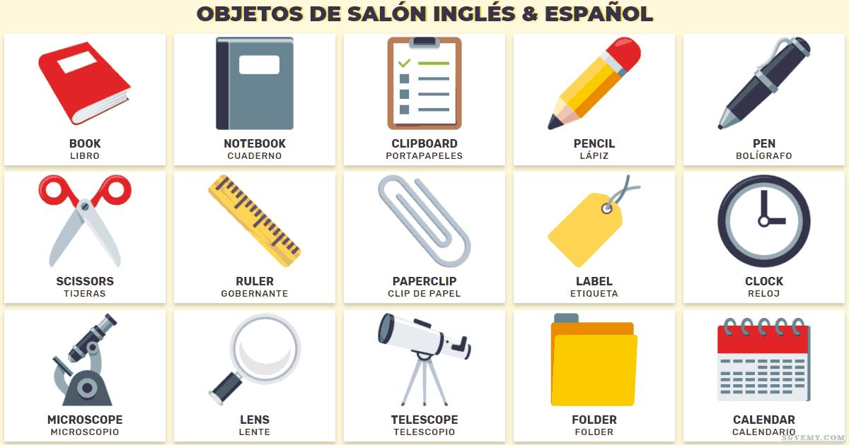 Objetos Del Aula En Inglés Vocabulario De Cosas Del Salón En