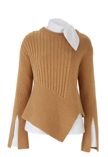 ec503355032e Shop now. Eudon Choi RATTNER JUMPER. Long sleeve jumper in fine cashmere  wool blend knit. Camel in colour featuring a slit detail on the sleeves and  an ...