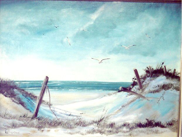South Padre Island O C 18x24 By Katherine Cook South Padre