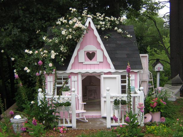dream cubbyhouse - I designed one sort of like this but it had a seperate bedroom and 'bathroom' my husband told me to go jump lol. one day my girls will have something like this!