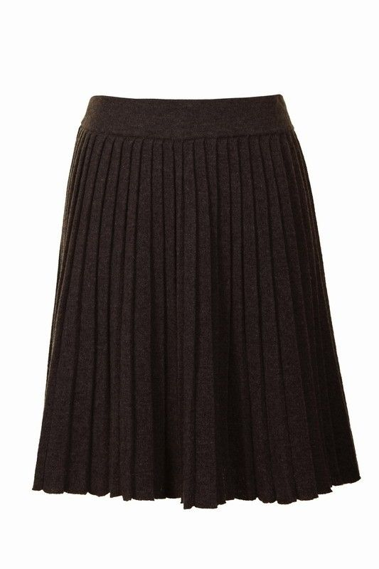Accordion Wool Skirt