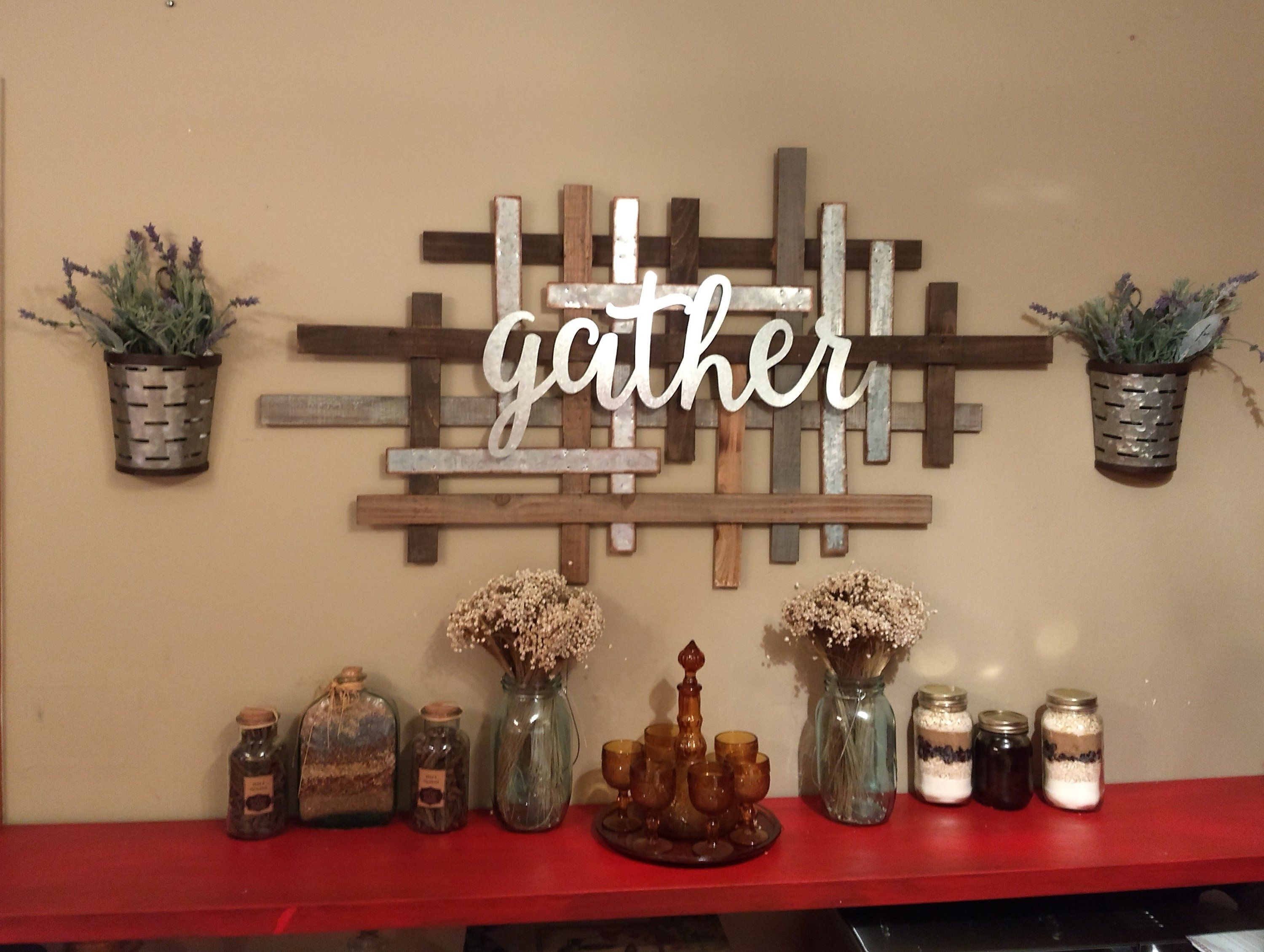 Farmhouse Decor Gather Together Country Wall Sculpture Rustic