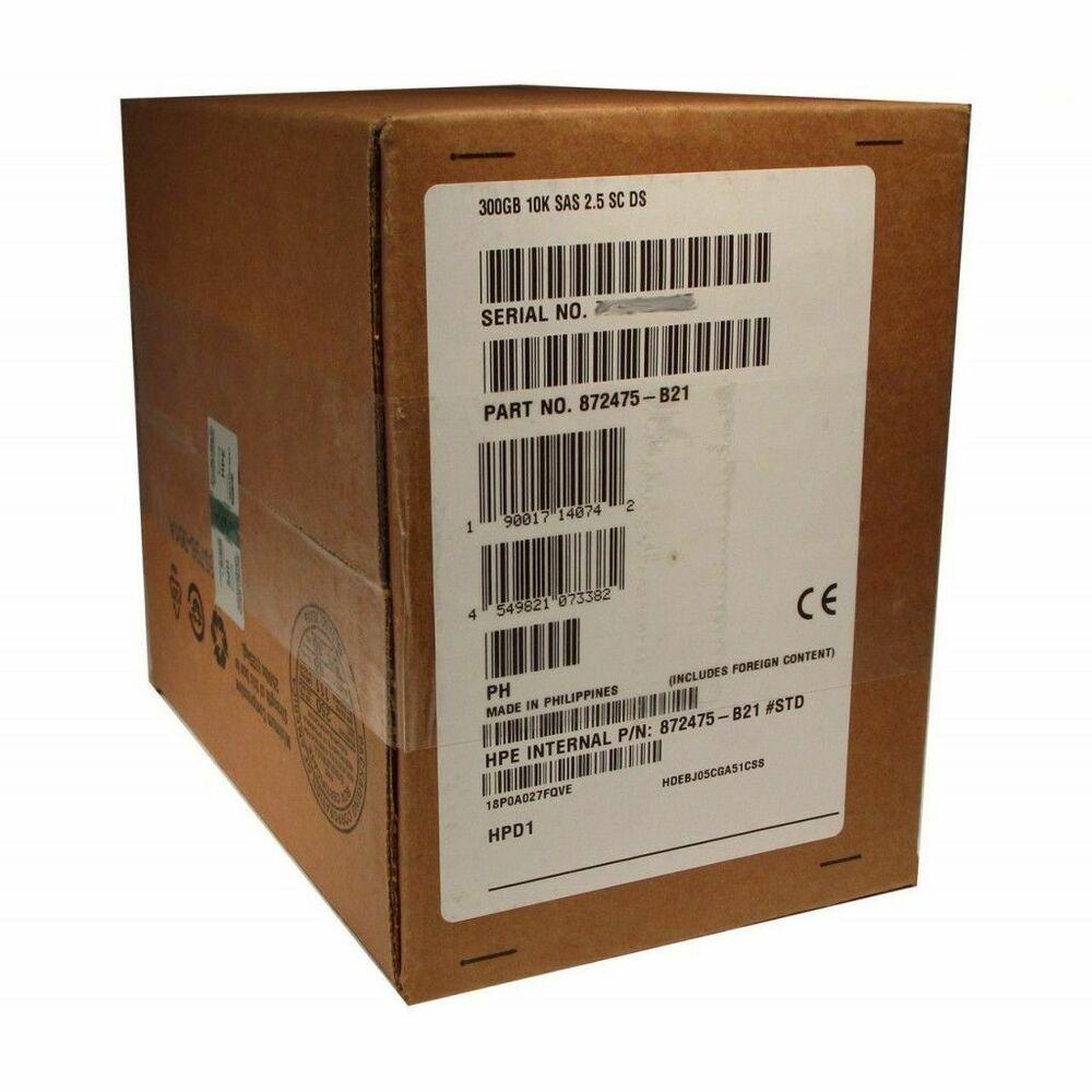 NEW HP 872475-B21 872735-001 300GB 10K 2.5/'/' 12GBPS SAS SFF  HDD HARD DRIVE