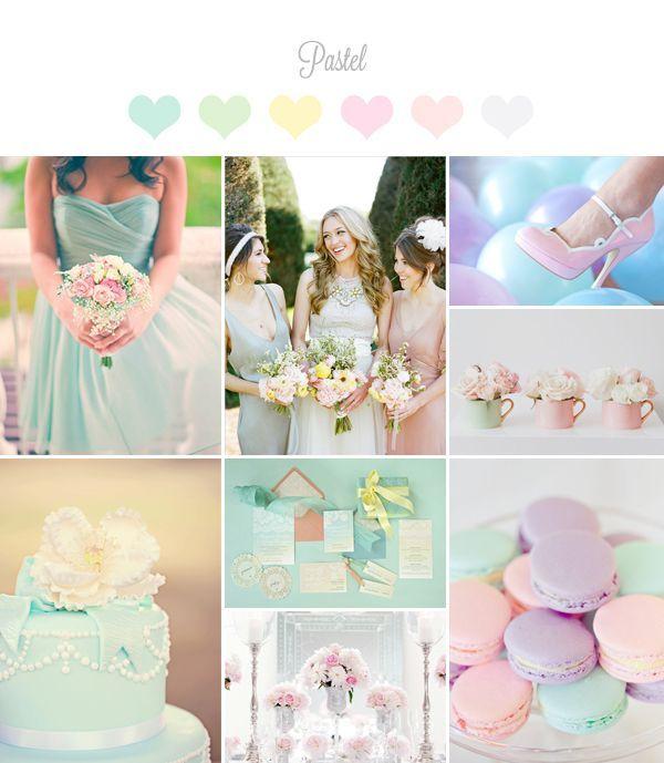Pastel Wedding Palette Color Theme Spring Colors Easter
