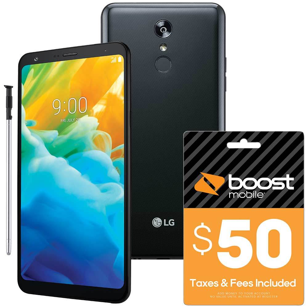 Boost Mobile - LG Stylo 4 Prepaid Cell Phone & Re-Boost $50 Prepaid