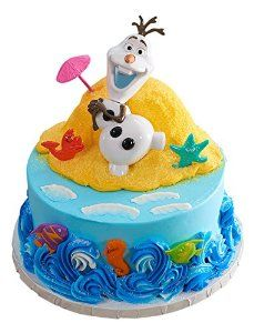 Amazoncom DecoPac Frozen Olaf Chillin DecoSet Cake Topper Toys
