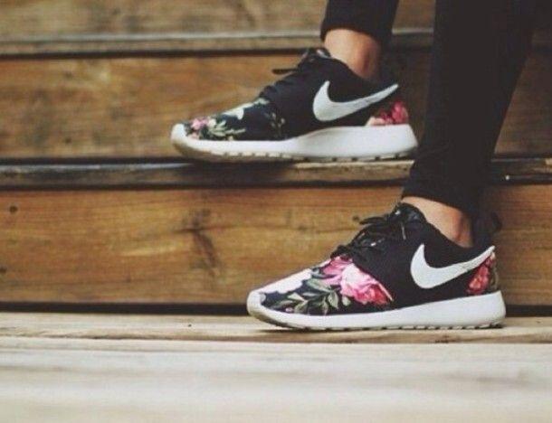shoes nike floral roshe run nike roshe runmaybe for when