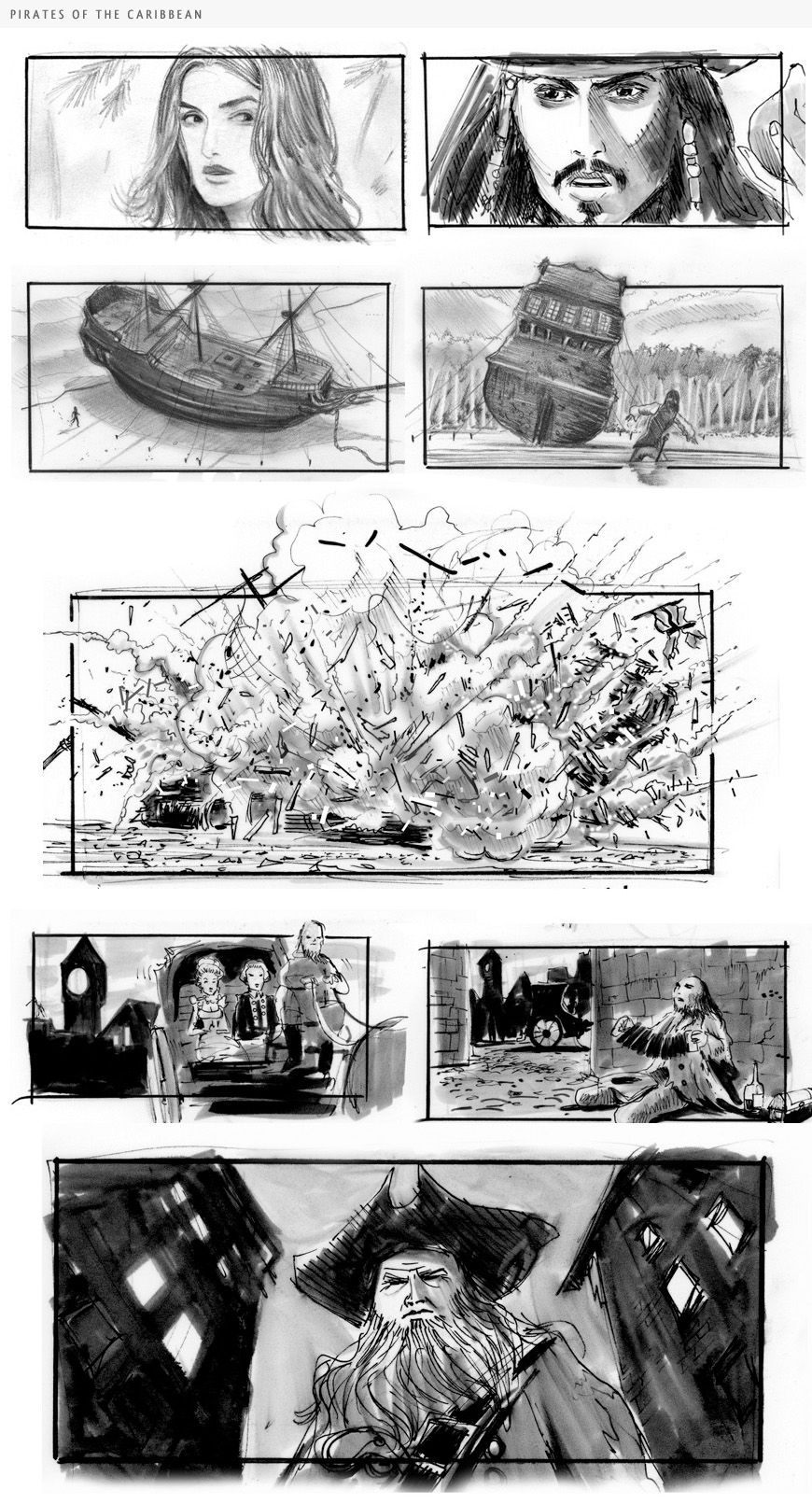 Storyboard Sequence From Saboteur  Drawing
