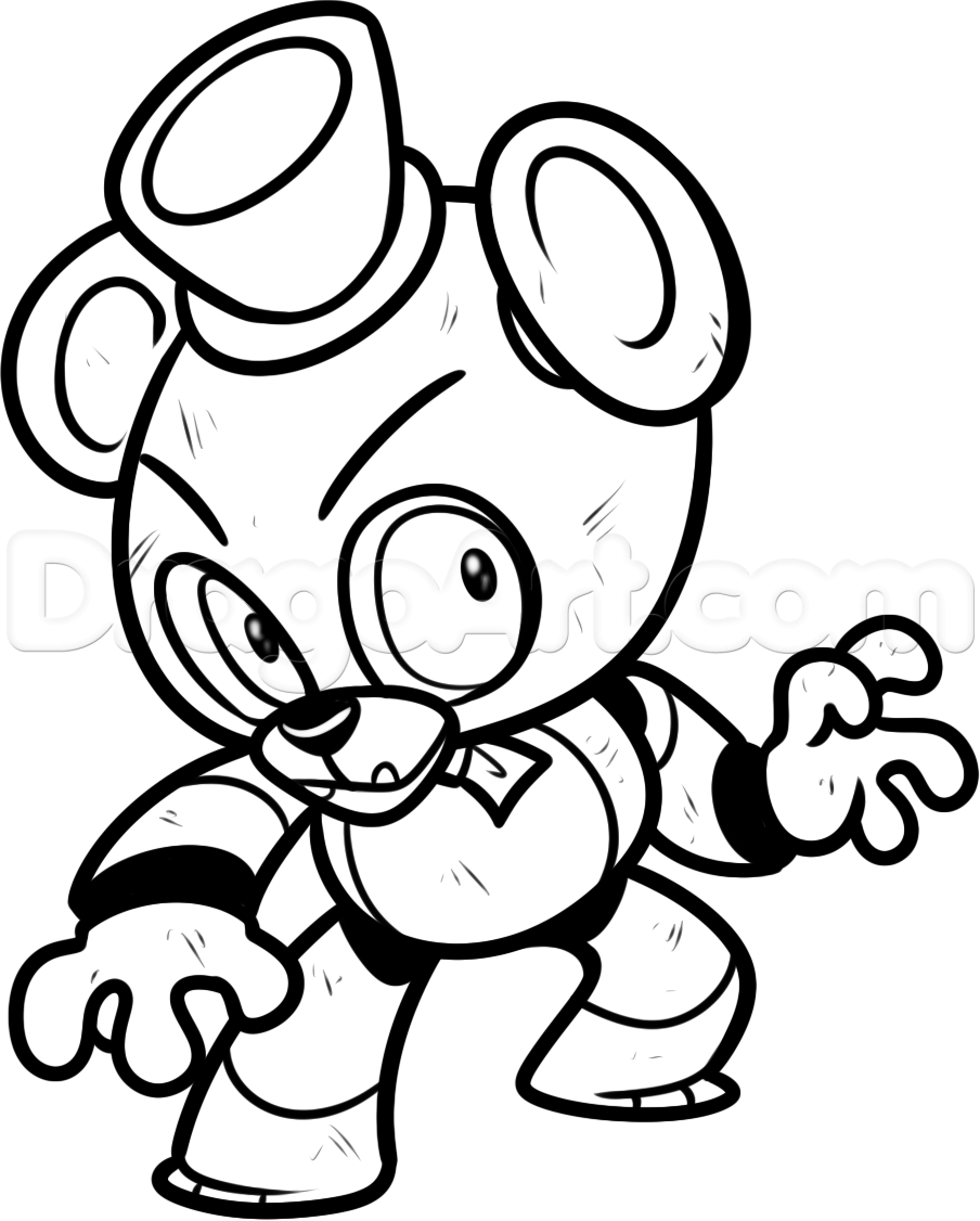 Freddy fazbear five nights at freddys step 10 1 for Freddy coloring pages