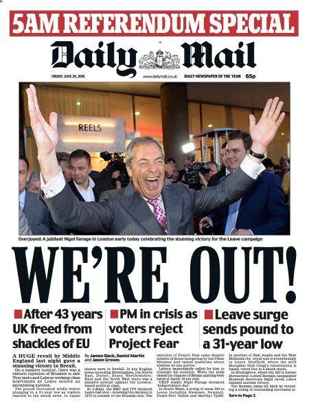 """""""Daily Mail"""": Genauso wie der """"Daily Mirror"""" titelt auch dieses Blatt."""