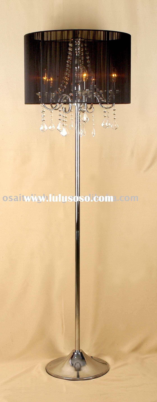 modern chrome crystal floor lamp, modern chrome crystal ...