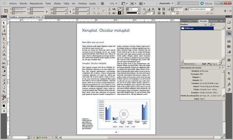 Trabajar Con Gráficos En Indesign Cómo Transformar Gráficos De Excel En Archivos Importables A Indesign Problema Resuelto Graficos Archivadores Textos