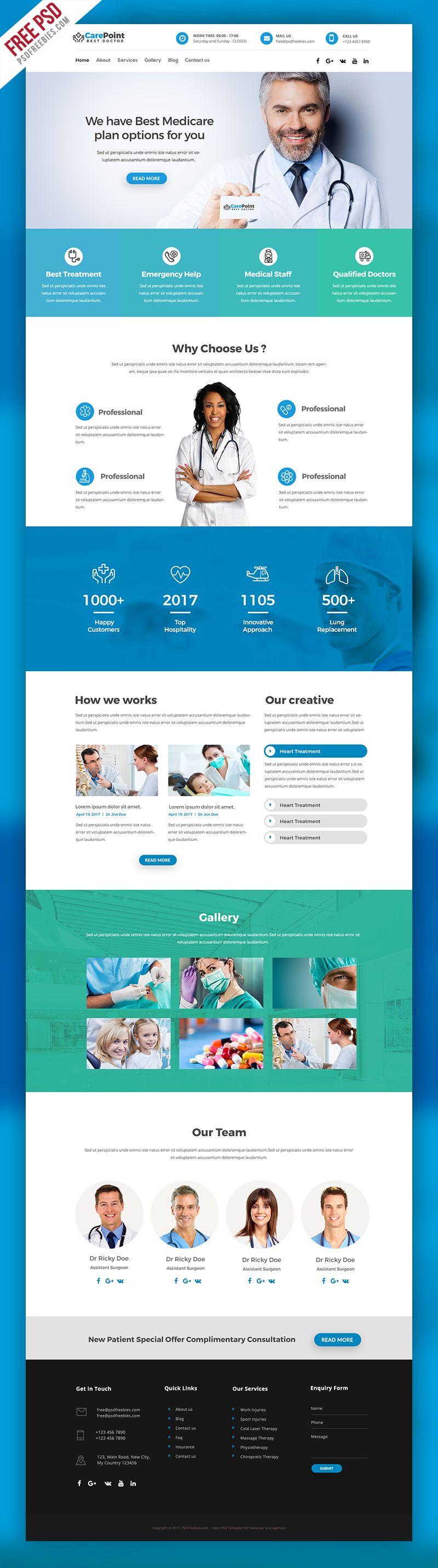 Medical Hospital Website Psd Template Psdfreebies Com Hospital Website Medical Websites Medical Website Design