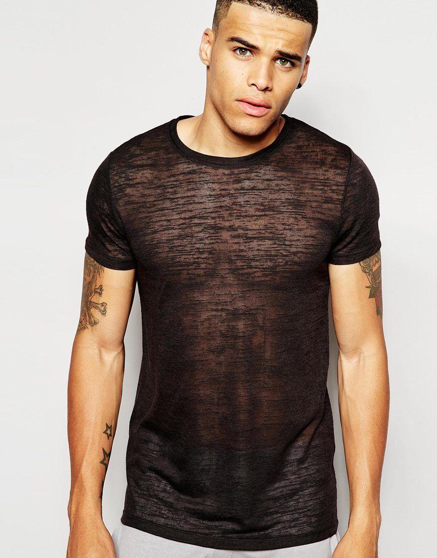 Image 1 of ASOS Loungewear Longline T-Shirt In Slub Fabric | Men's ...
