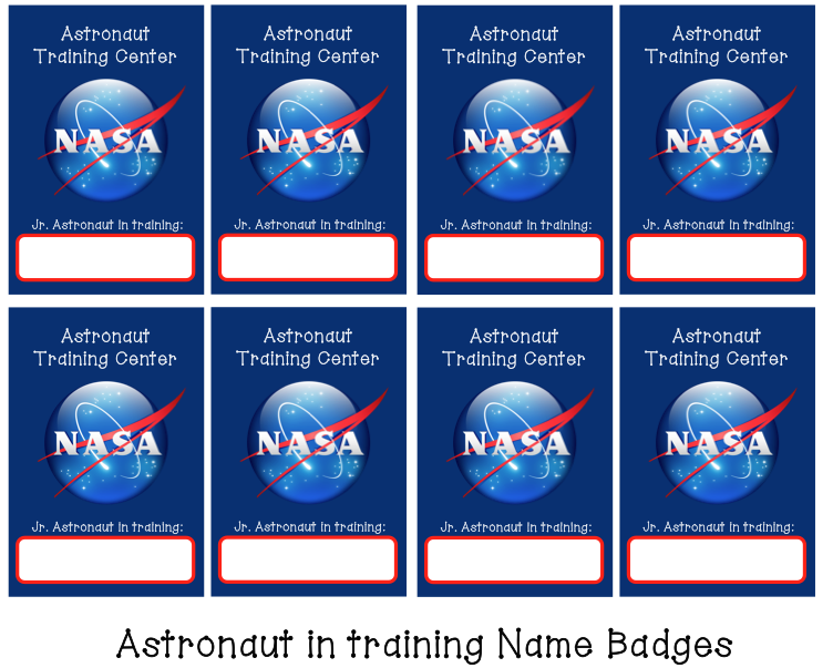 Astronaut In Training Name Badges Outer Space Party Space Theme Party Space Party