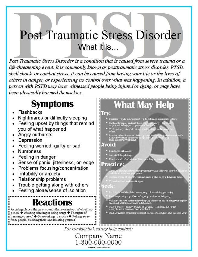 eaposters.com: PTSD Posters or Post Traumatic Stress Disorder ...