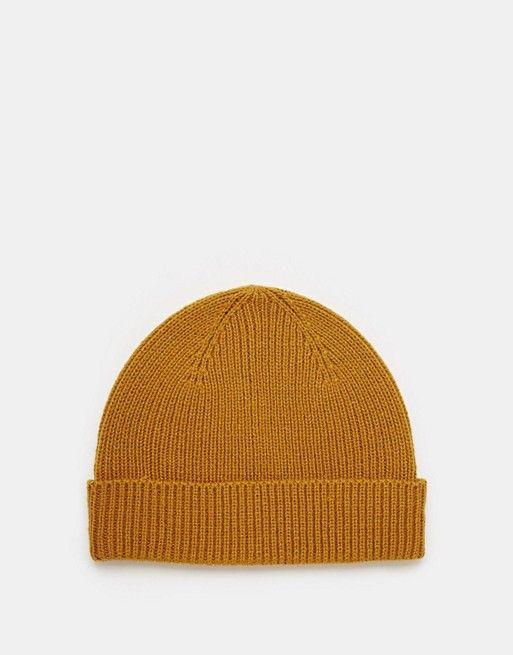 6b8fbe80d1d990 DESIGN fisherman beanie in mustard | it's nice that | Beanie hats ...