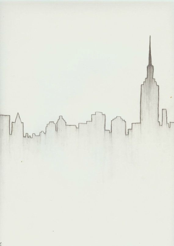 New York City Skyline Download | drawing | Pinterest | Dibujo ...