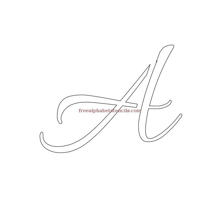 Read Article Wedding Cursive Uppercase Lowercase Alphabet Stencils