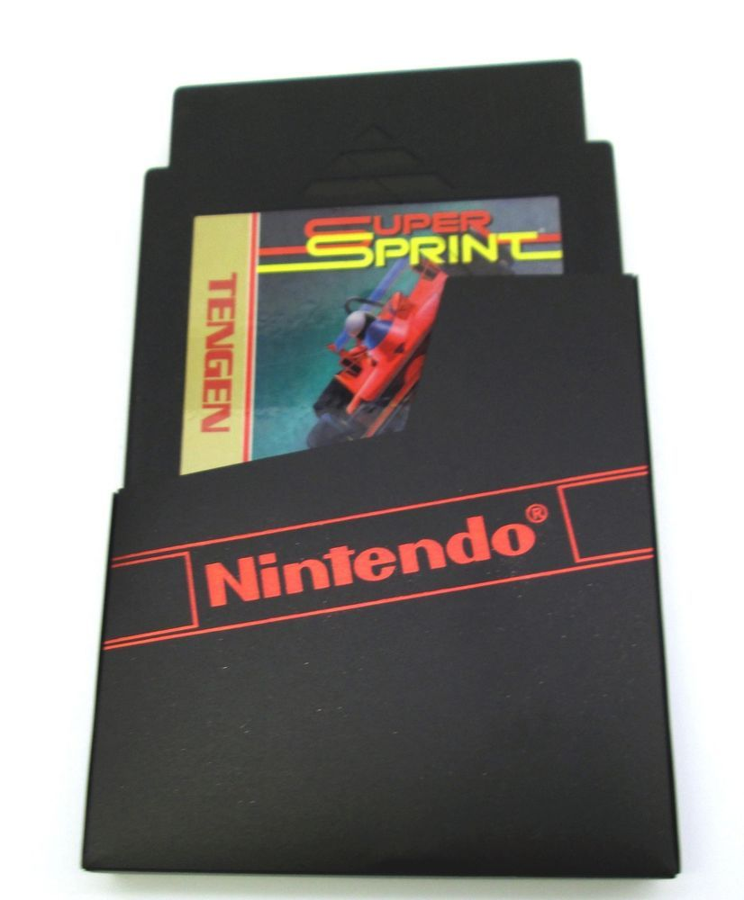 Spint Schrank Super Sprint Top Down Racing Game Cartridge Nintendo Entertainment