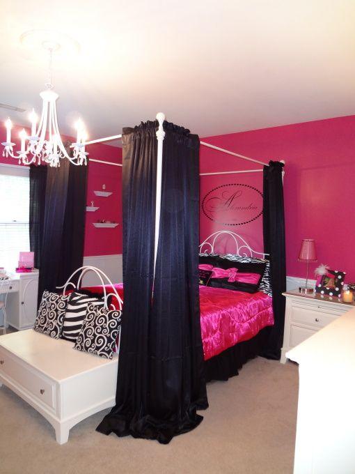 Black Hot Pink Hot Pink Bedrooms Pink Bedrooms Girl Room