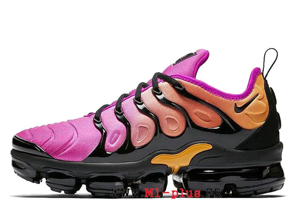 c1467edd21d87 Nike Air VaporMax Gs Plus Reverse Sunset Nouveaux sports Femme Noir violet  AO4550-004