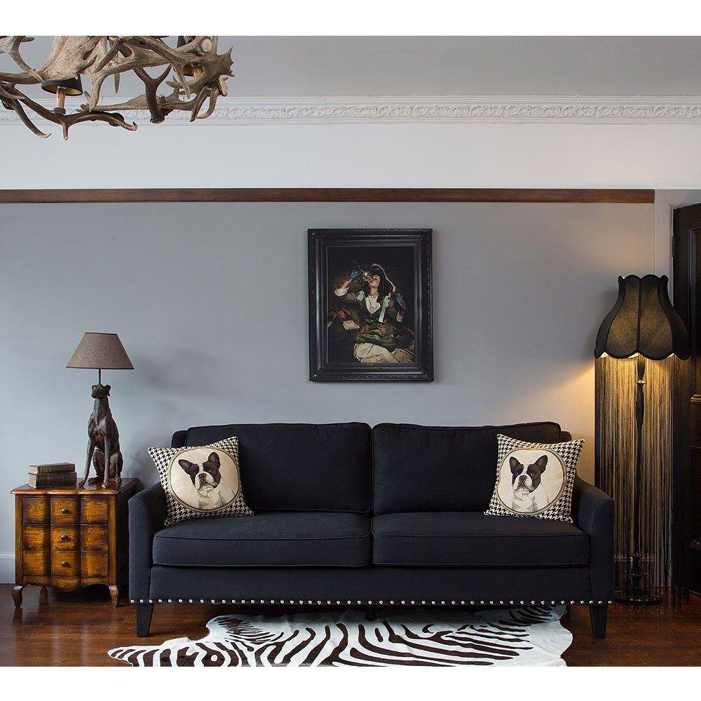 Bigwig Studded Black Sofa | Luxury Sofa