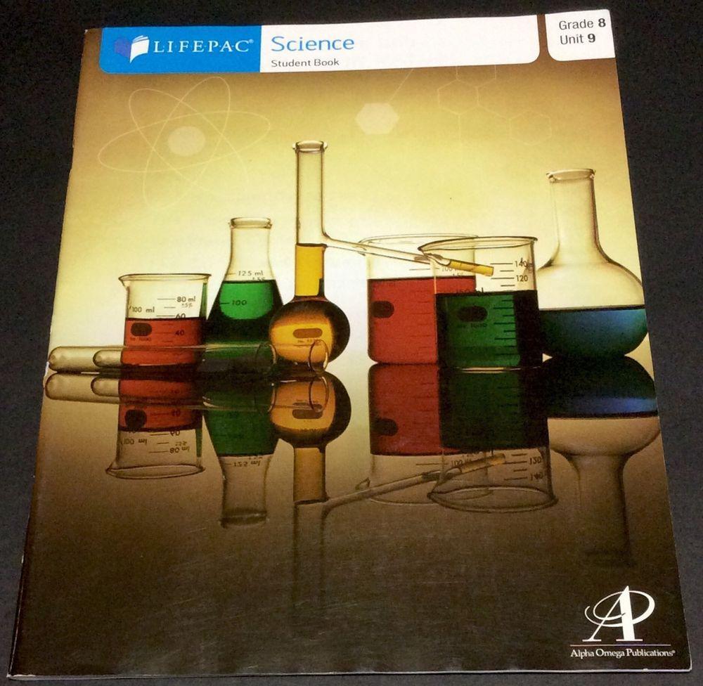 Lifepac Science Grade 8 Unit 9 student workbook text homeschool ...