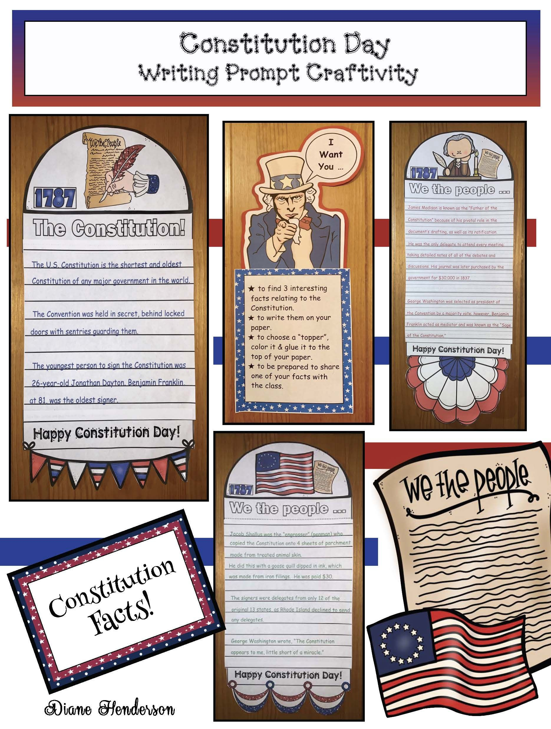 Easy Peasy Constitution Day Writing Prompt Craft
