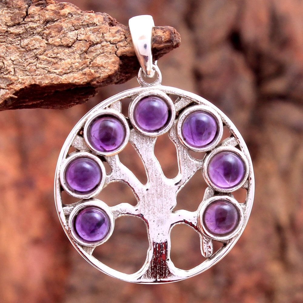 Unique Pendant Designer Pendant Solid 925 Silver Pendant Amethyst Pendant Purple Amethyst Pendant Gemstone Pendant Gift For Mother